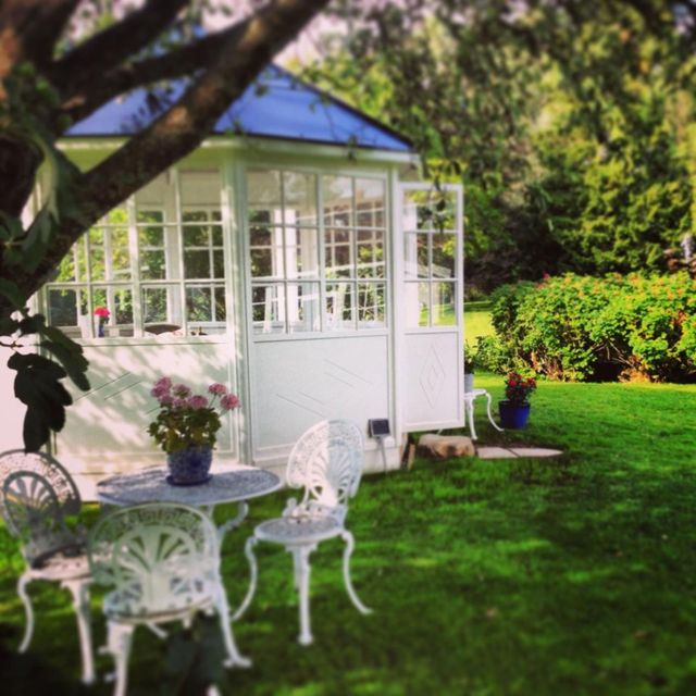 Gazebo and outdoor furniture