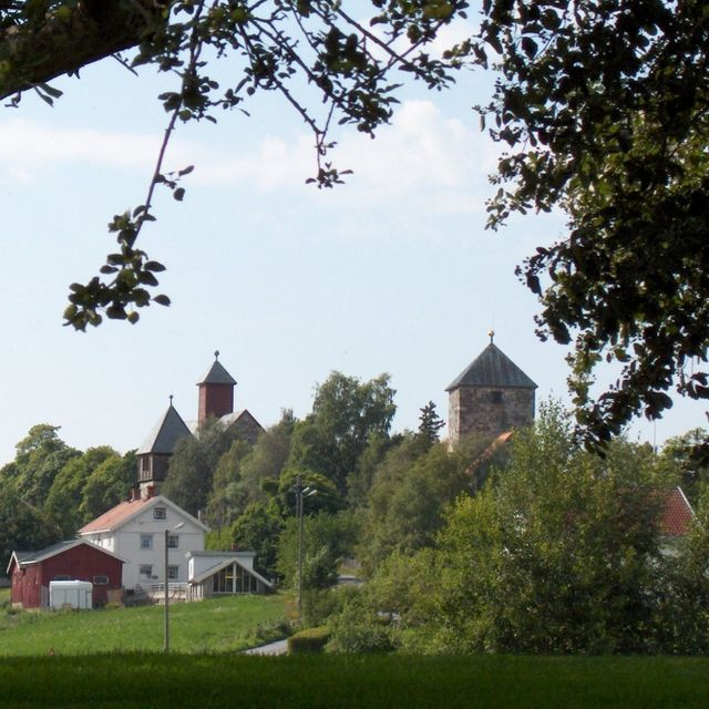 Scenery with churches