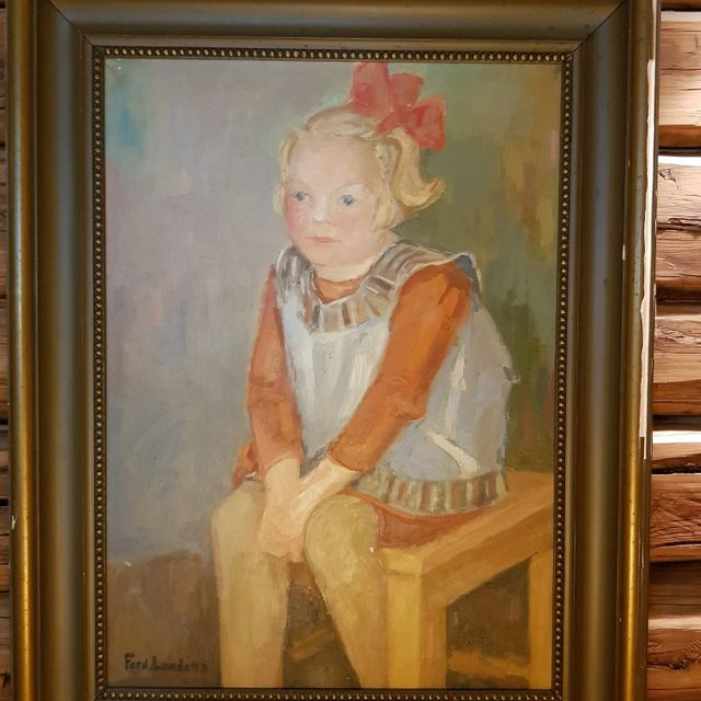 Painting of a little girl