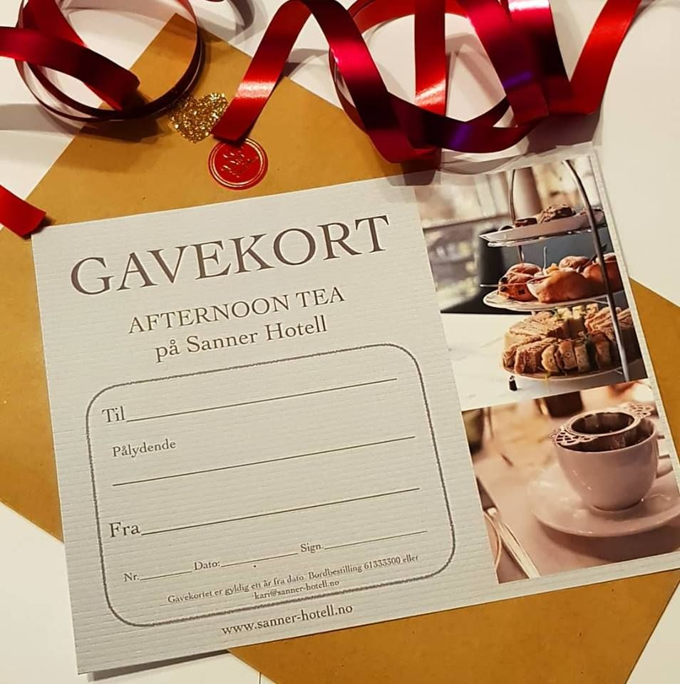 Gavekort Afternoon Tea